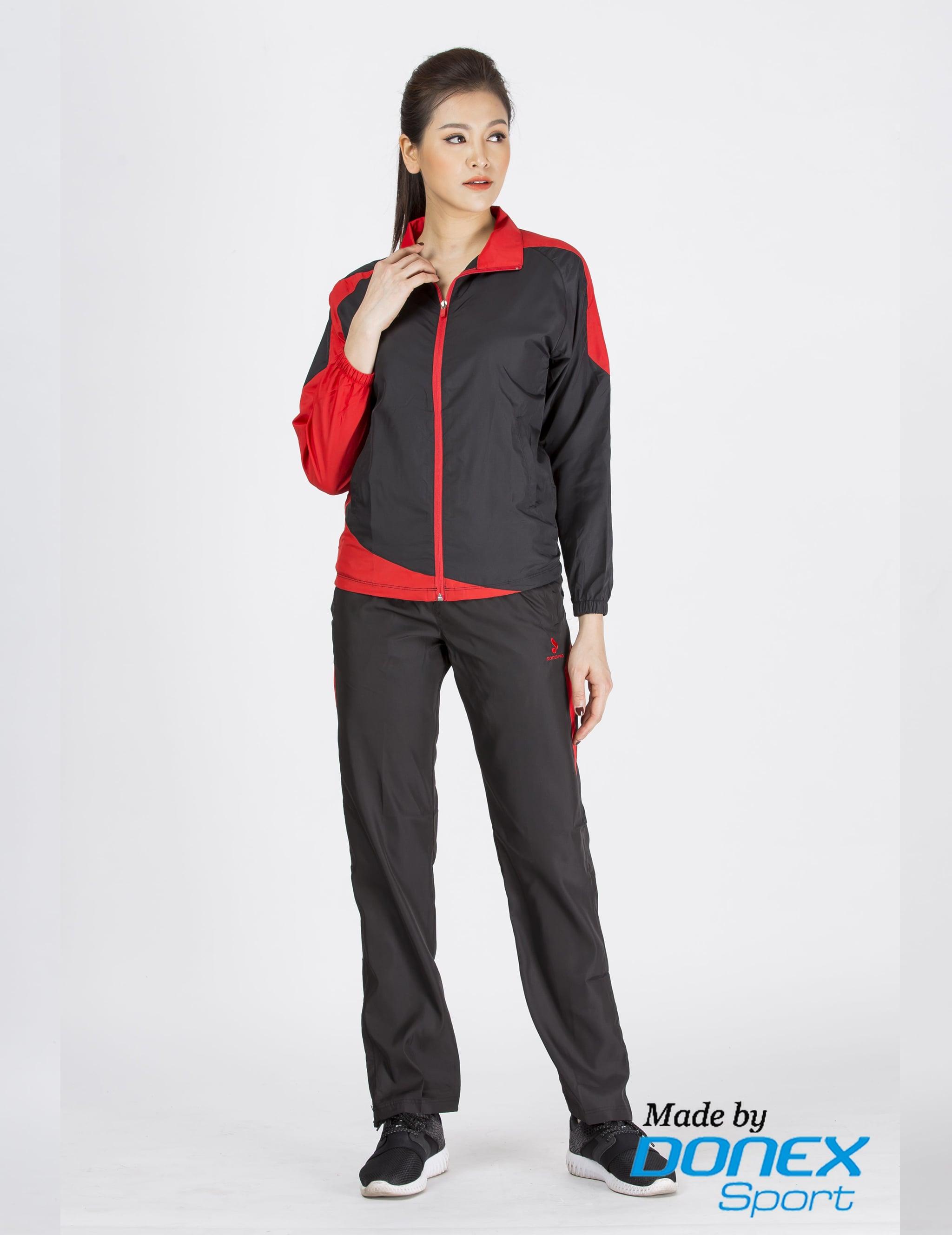 Áo thể thao nữ ADE 132- Đen phối đỏ