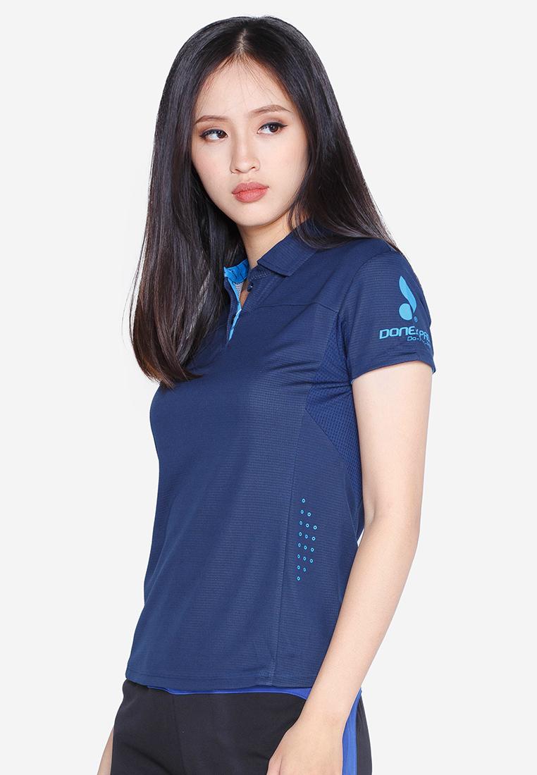 Áo thể thao nữ AC 3355- Navy phối xanh Coban