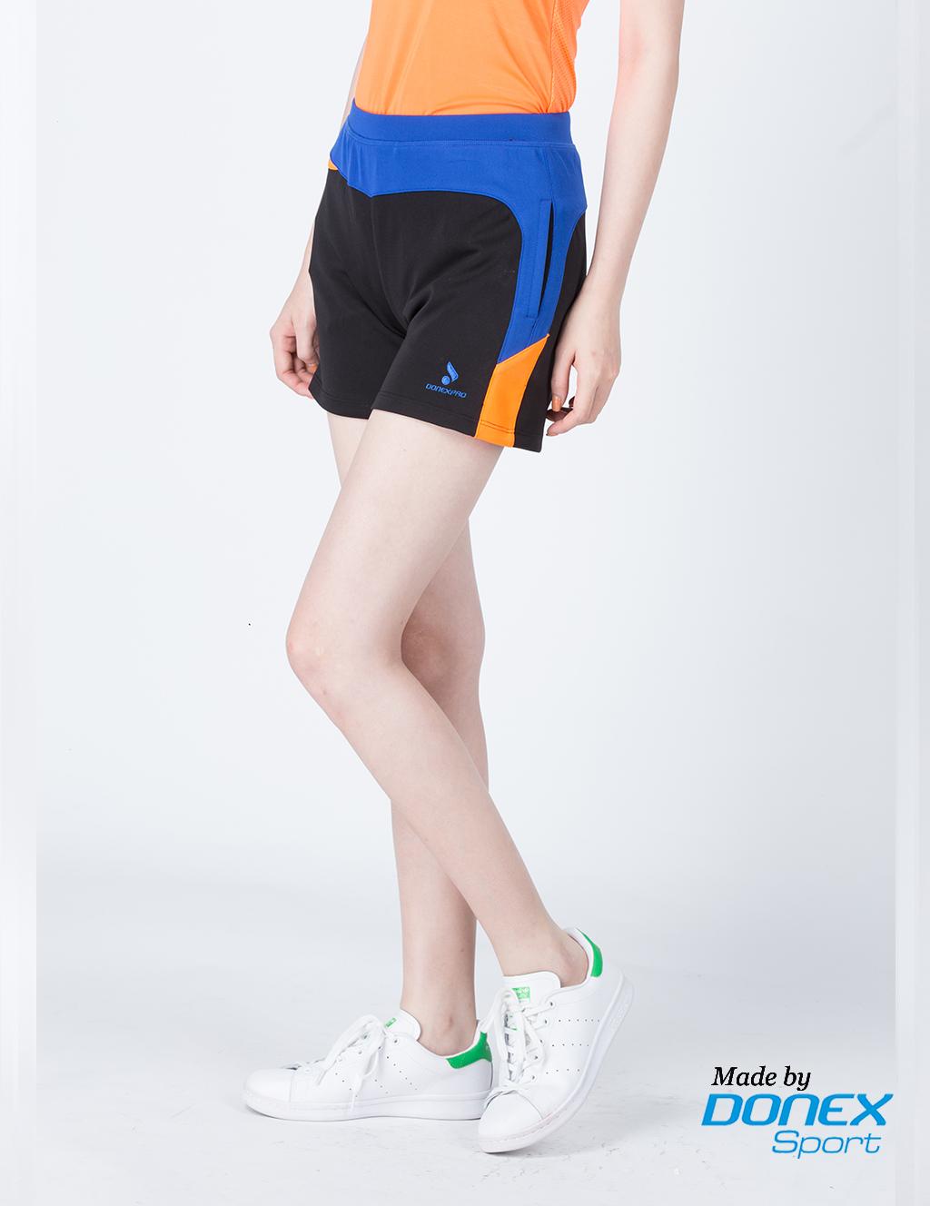 Quần thể thao nữ ASC 848- Đen phối xanh bích
