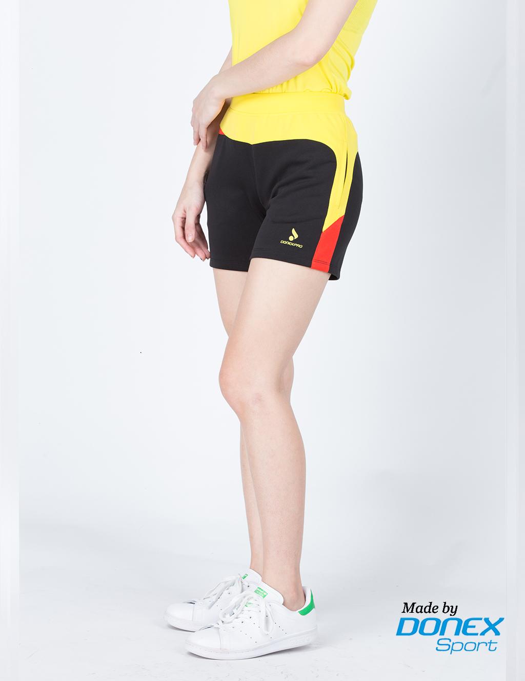 Quần thể thao nữ ASC 848- Đen phối vàng