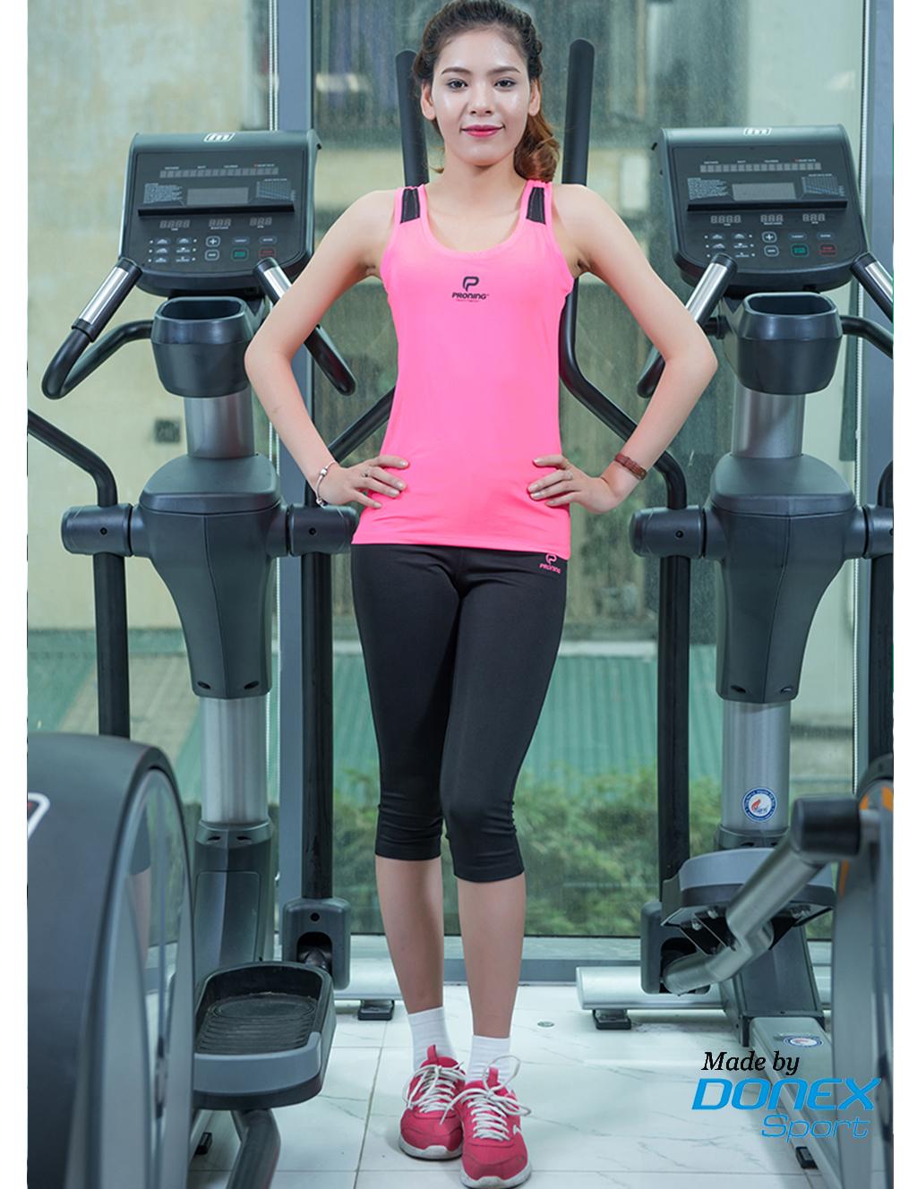 Quần thể thao nữ ASC 851B- Đen phối hồng mile
