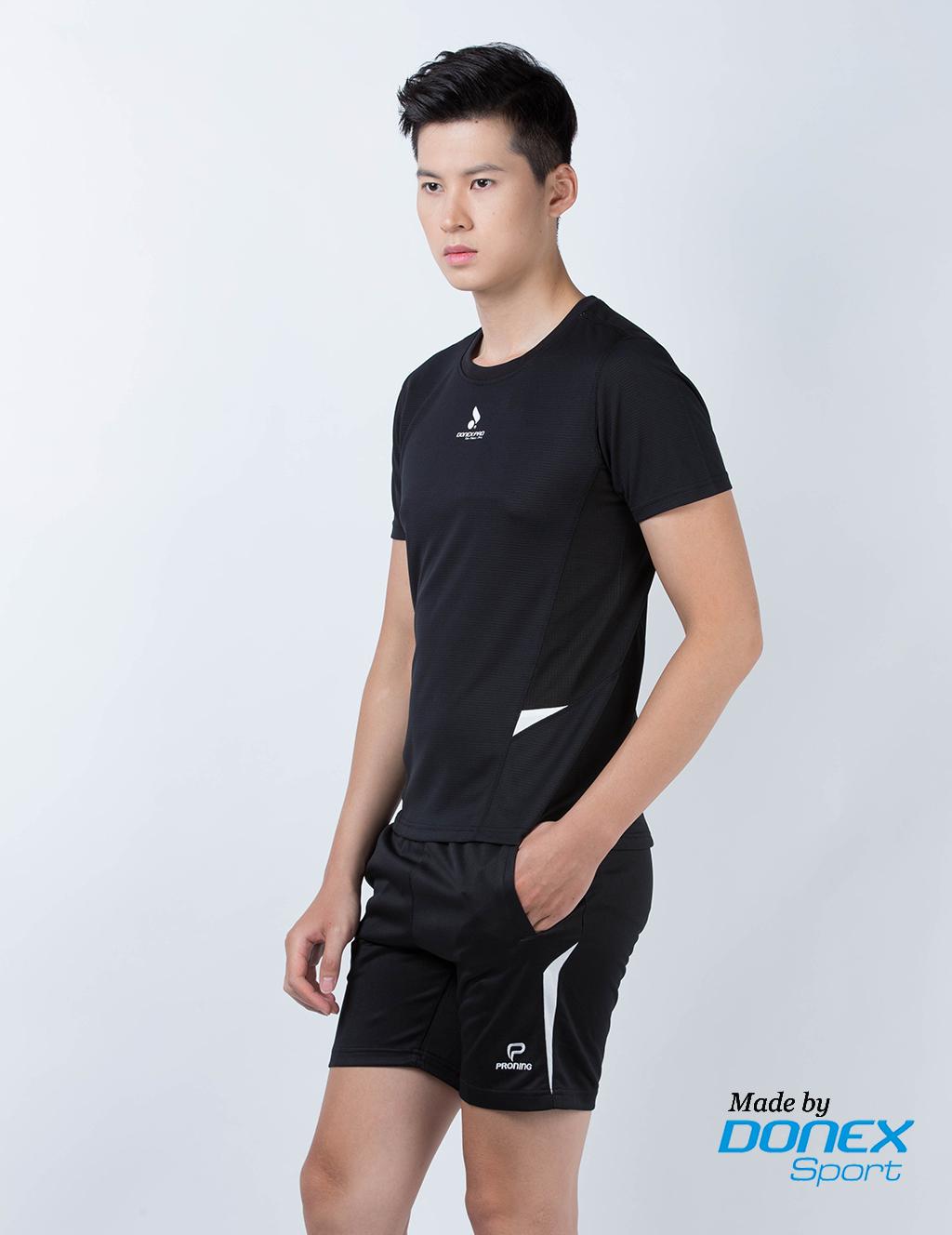Áo thể thao nam MC 8945- Đen phối trắng