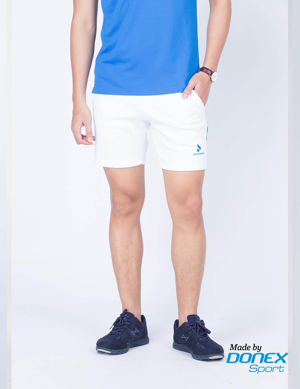 Quần thể thao nam MSC 958- Trắng phối xanh copan