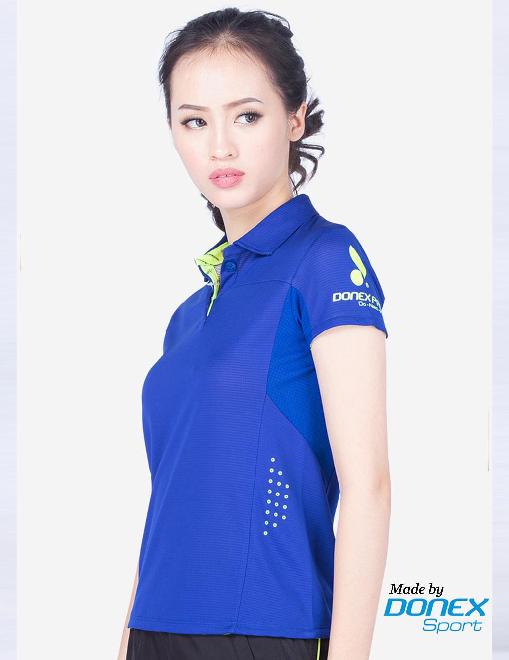 Áo thể thao nữ AC 3355- Xanh bích phối dạ quang