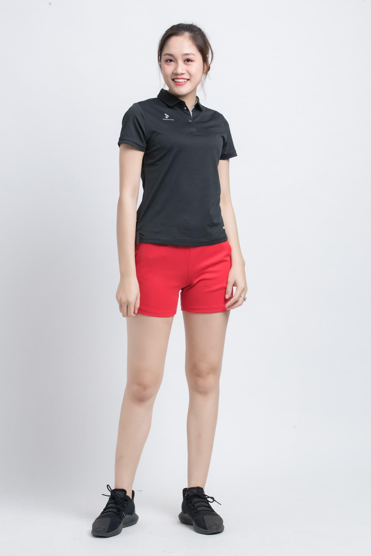 Quần thể thao nữ ASC-870 - Đỏ phối trắng