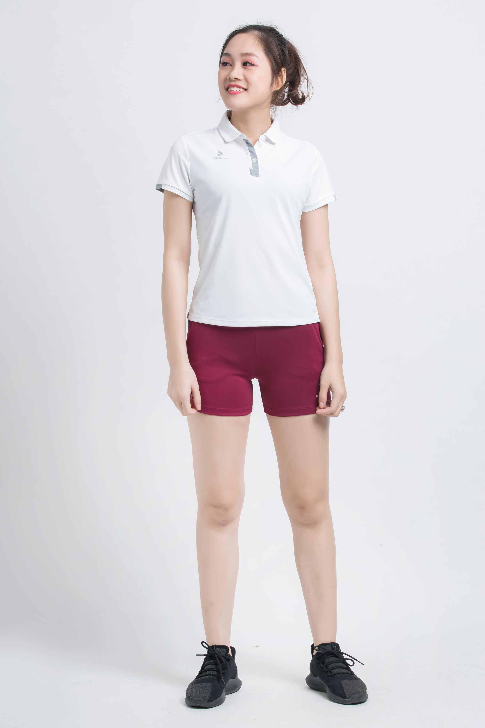 Quần thể thao nữ ASC-868 - Đỏ đô phối trắng