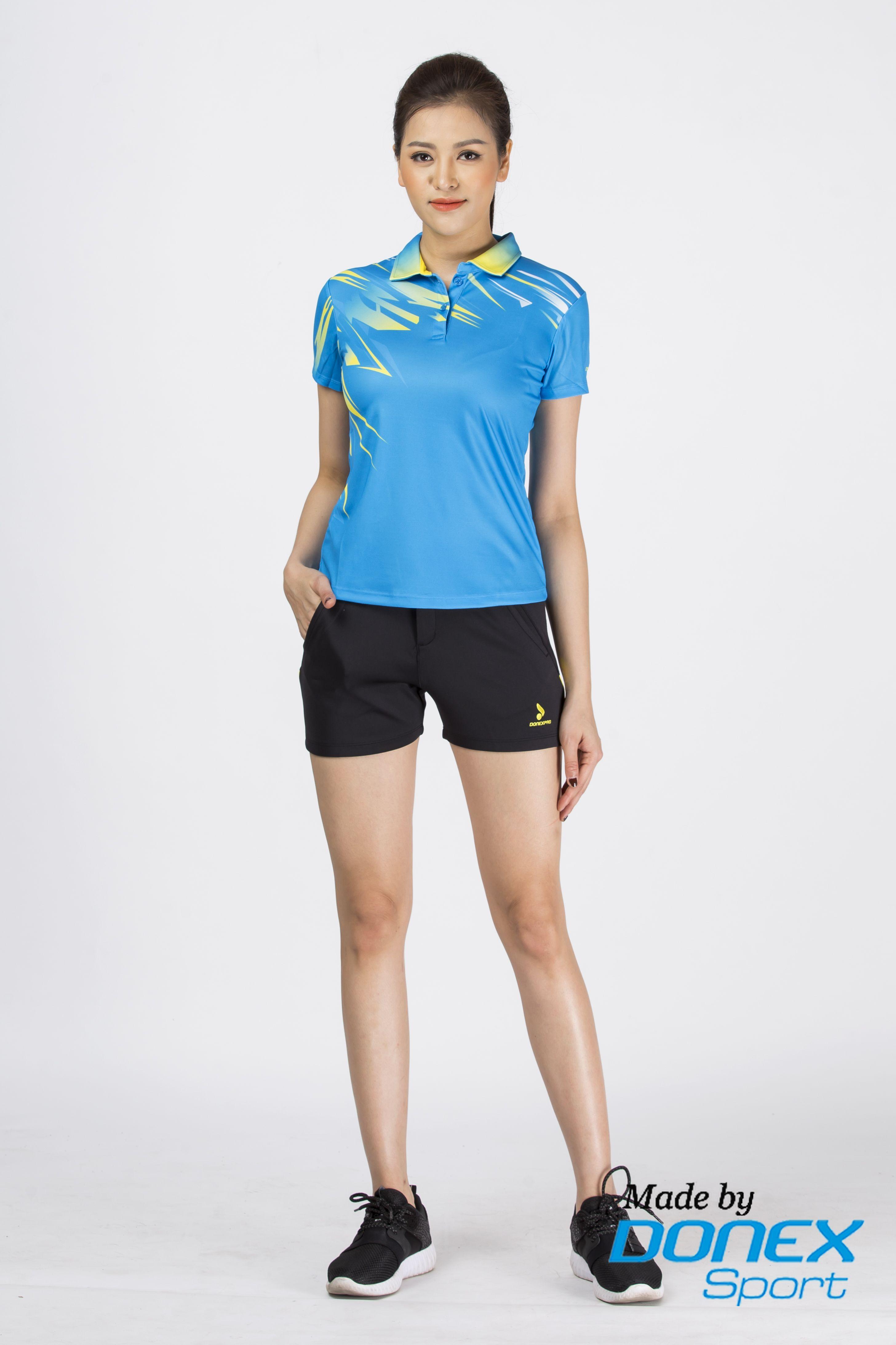 Quần thể thao nữ ASC 858- Đen phối vàng
